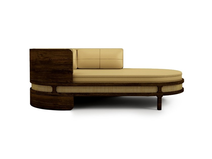 Upholstered leather day bed BROOKS | Leather day bed by Wood Tailors Club