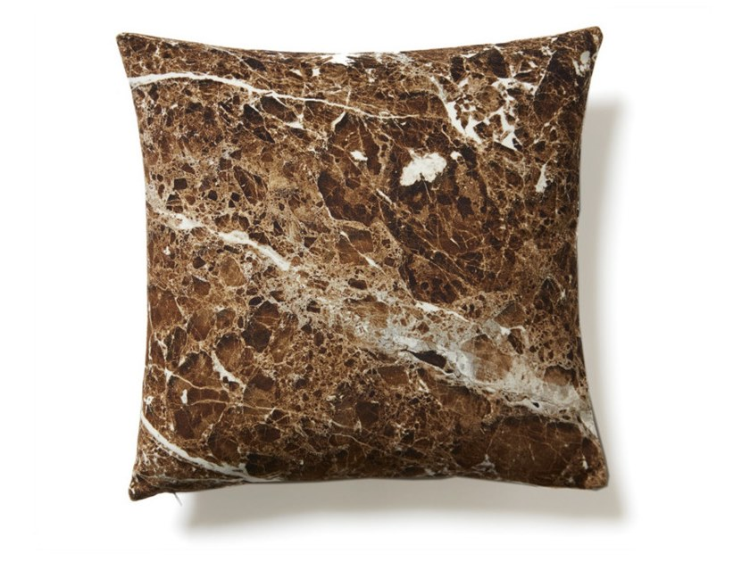 Square polyester cushion BROWN EMPERADOR | Cushion by Koziel