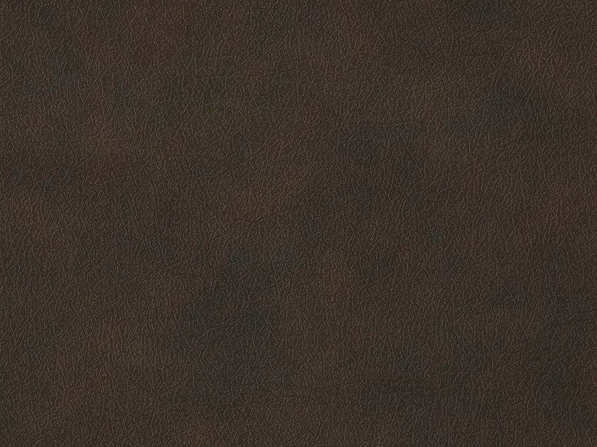 Door sticker with textile effect BROWN LEATHER by Artesive