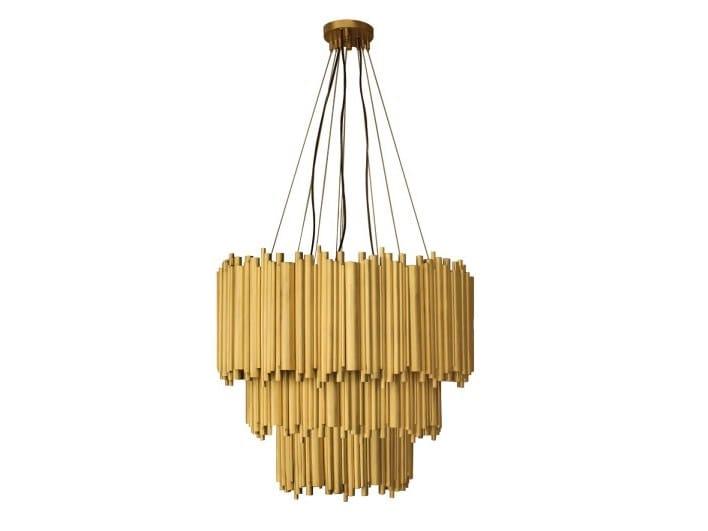 Brass pendant lamp BRUBECK CHANDELIER | Pendant lamp by Delightfull