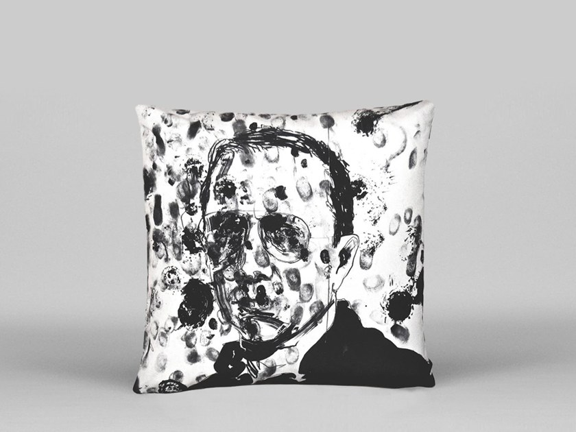 Square cushion with removable cover BRUCE LABRUCE - ART17 by HENZEL STUDIO