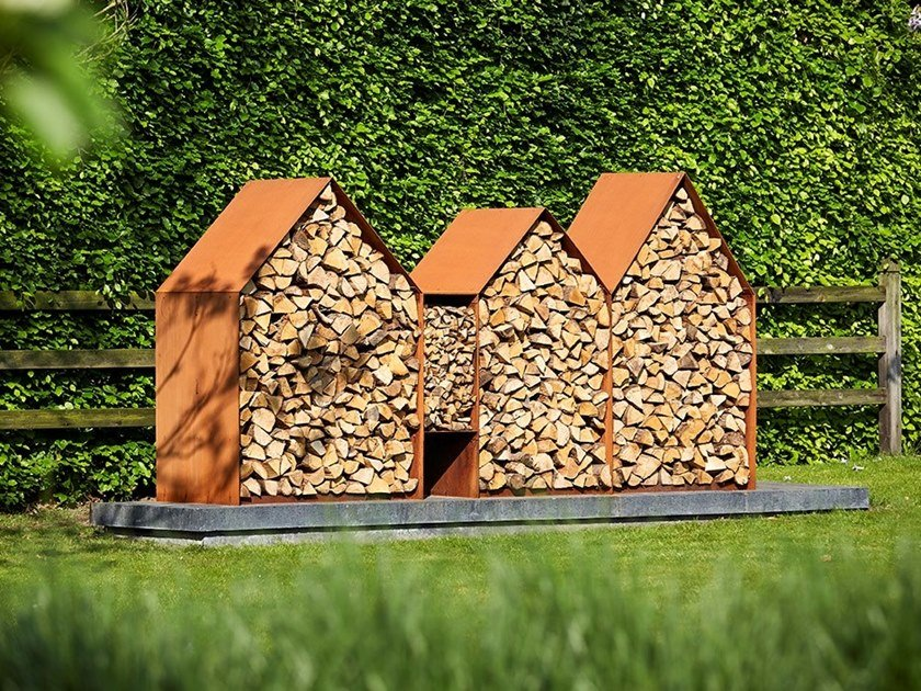 Corten™ Log holder BRUGES by RB73