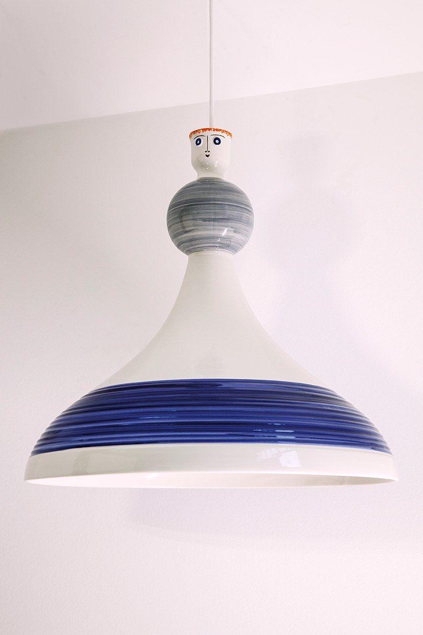 Lampada Mano Ceramica Brunilde Sospensione Fatta In Led A Engi DbWIe9EYH2