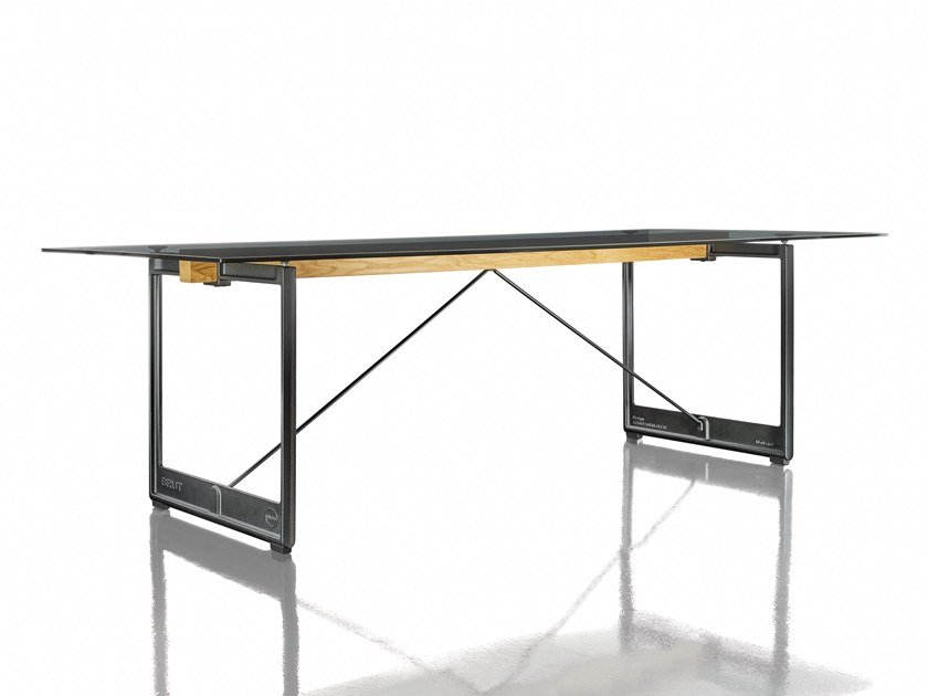 Rectangular Table BRUT | Glass Table By Magis