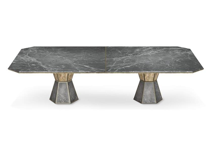 Rectangular marble table BRYANT by Porustudio