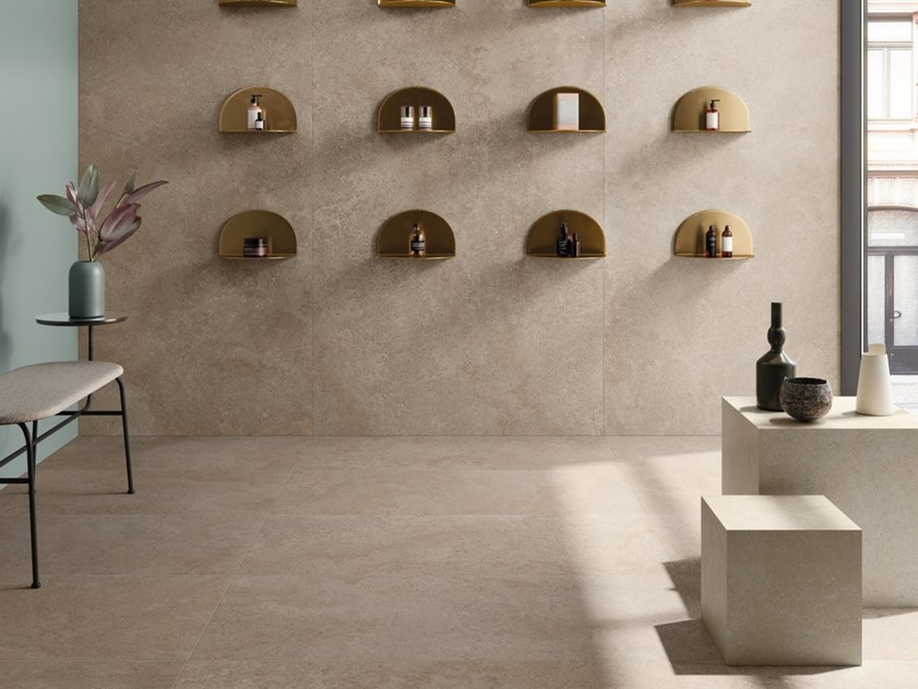 Porcelain stoneware wall/floor tiles BRYSTONE GOLD by CERAMICHE KEOPE