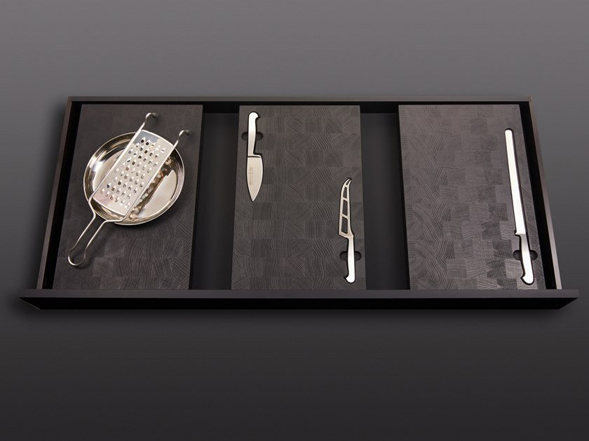 Tagliere rettangolare in legno con coltello in acciaio BT45  EXPERIENCE by BT45