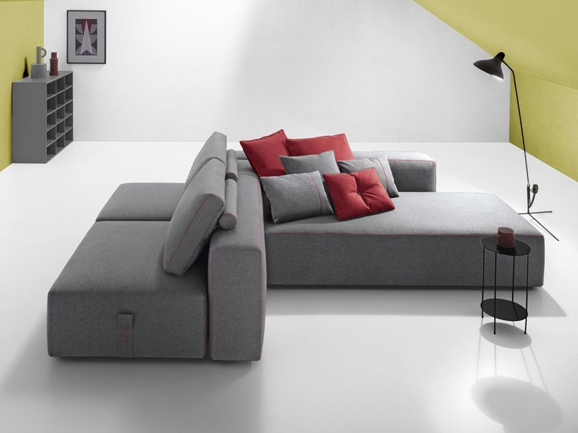 Sectional fabric sofa BUBBLE GOLD by Felis