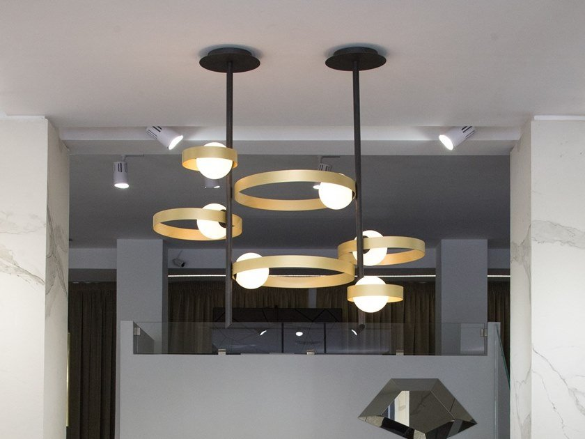 Metal pendant lamp BUBBLE S by RIFLESSI