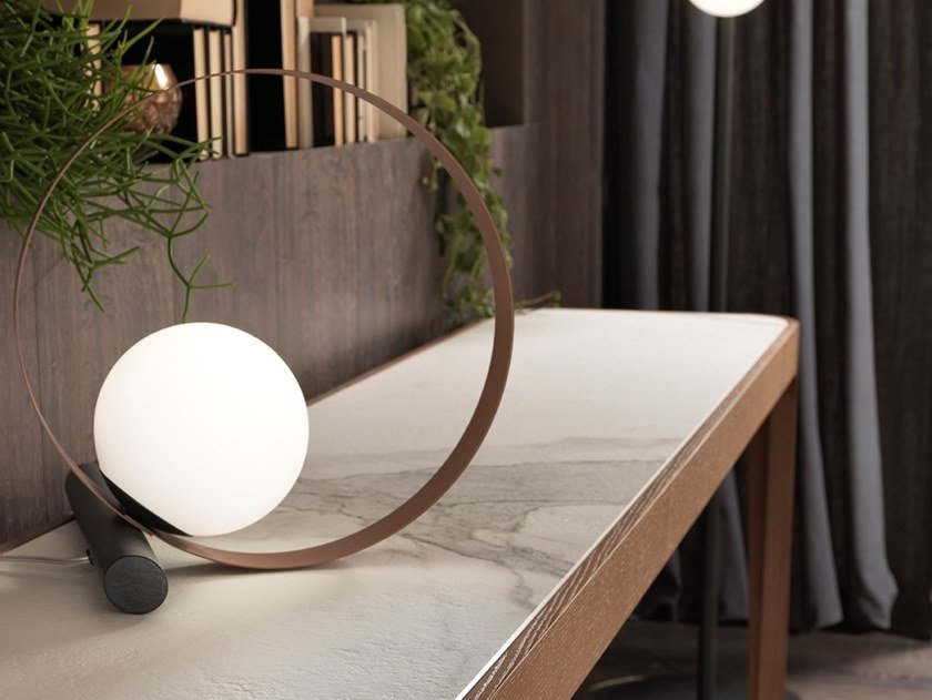 Metal table lamp BUBBLE T by RIFLESSI