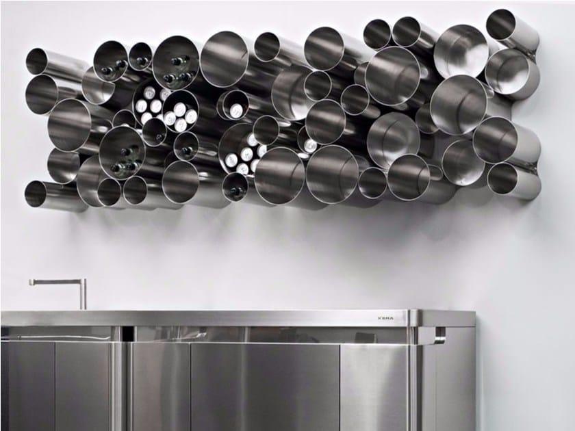 Portabottiglie / Dispensa in acciaio inox BUBBLE TOOLS by Xera by Arex