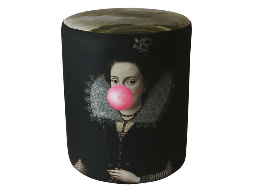 Round polyester pouf BUBBLEGUM PORTRAIT by Mineheart