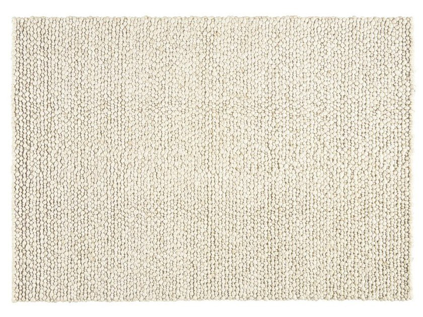 Solid-color rectangular wool rug BUBBLES by Toulemonde Bochart
