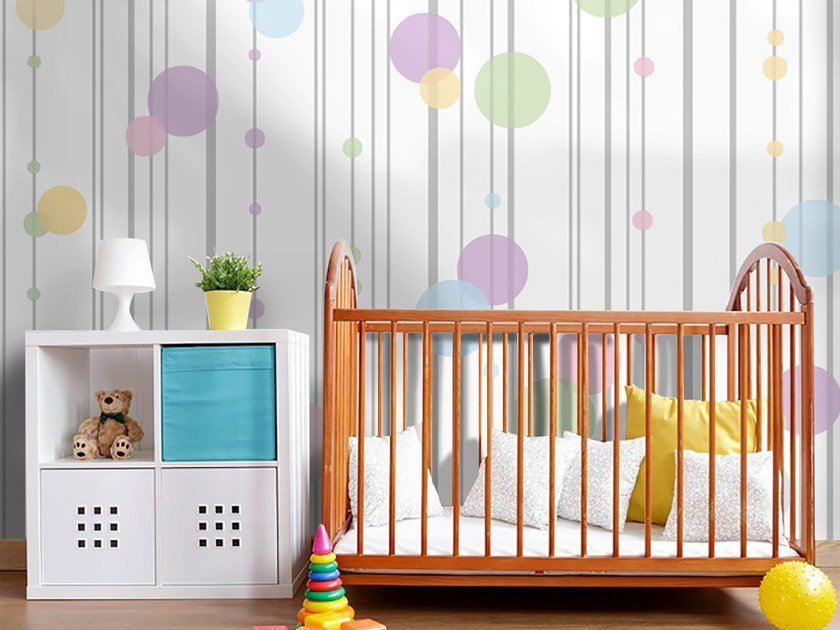 Adhesive washable kids wallpaper BUBBLES by Wall LCA
