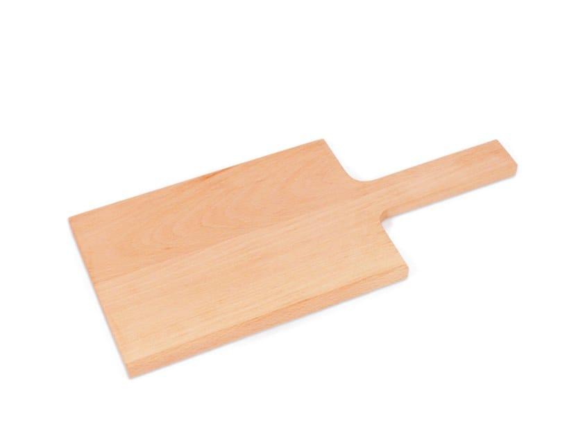 Rectangular beech chopping board with one handle BUCHENBRETT Medium by designimdorf