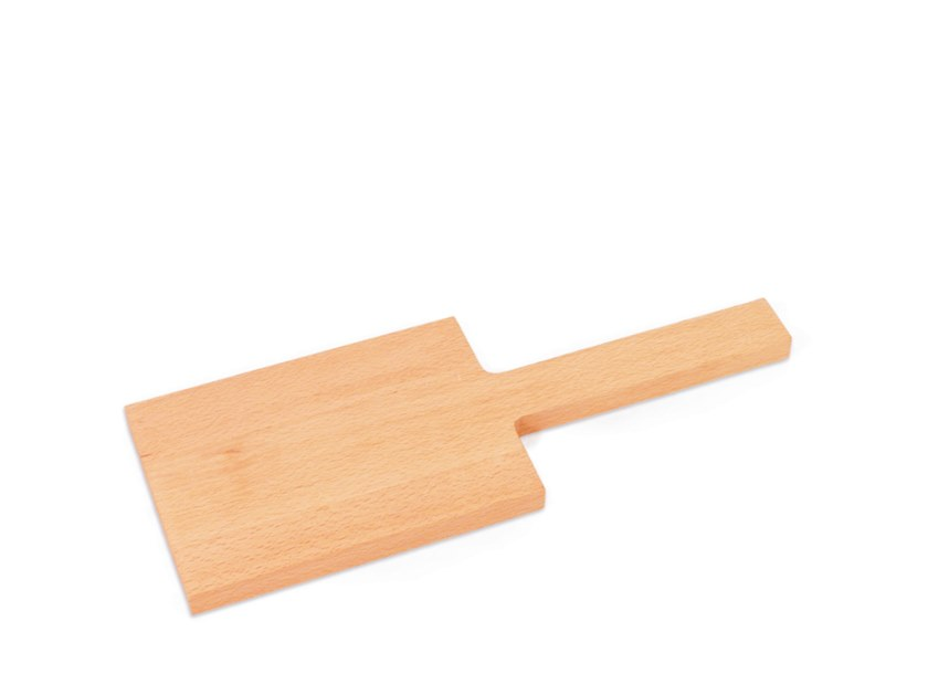 Rectangular beech chopping board with one handle BUCHENBRETT Small by designimdorf