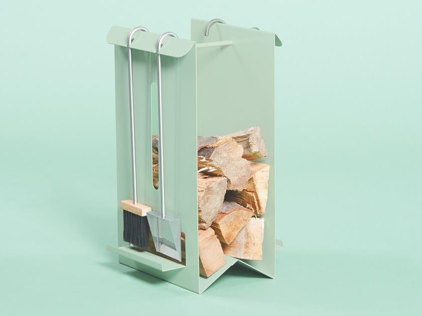 Metal Log holder BUCK by Giacopini