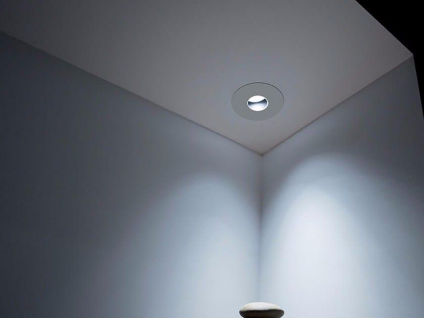 Faretto orientabile in metallo a soffitto da incasso BUCO R by DAVIDE GROPPI