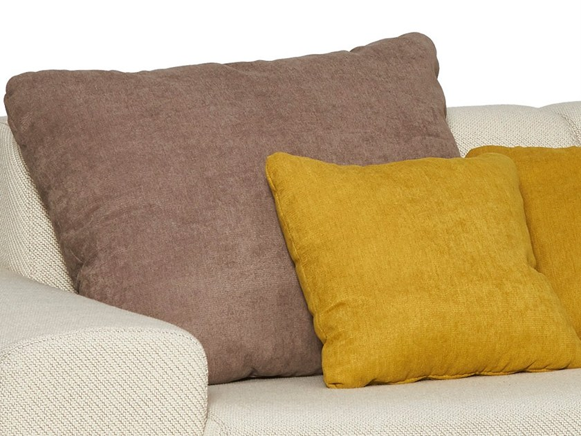 Solid-color fabric sofa cushion BUDAPEST | Cushion by moovia
