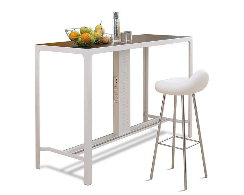 Tavolo Alto Moderno.Tavolo Alto Da Cucina Da Pranzo In Legno In Stile Moderno