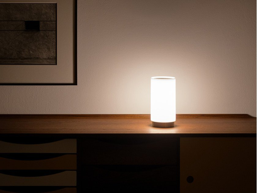 LED table lamp with rechargeable battery BUGIA by DAVIDE GROPPI