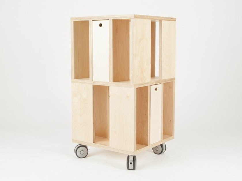 Storage unit with casters BUILDING 2M by MALHERBE EDITION