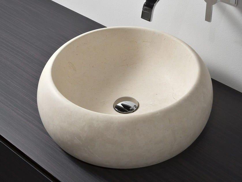 Countertop round Sinai marble washbasin BULL by Antonio Lupi Design