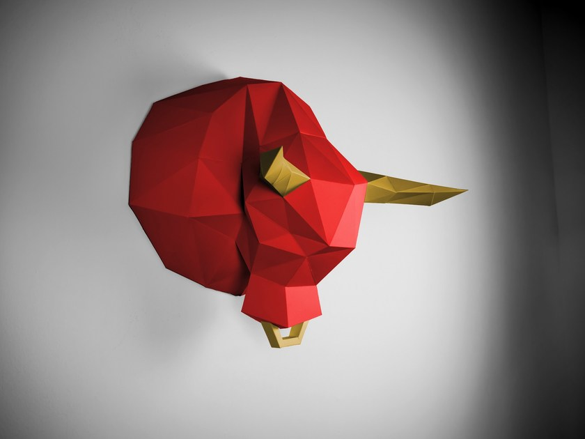 Paper wall decor item BULL by Papertrophy