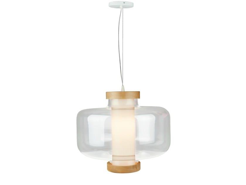LED pendant lamp BULLE by Brossier Saderne