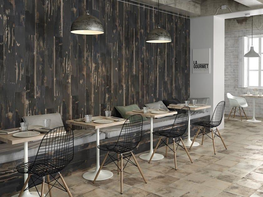 Indoor/outdoor wall/floor tiles with wood effect BURN by PERONDA