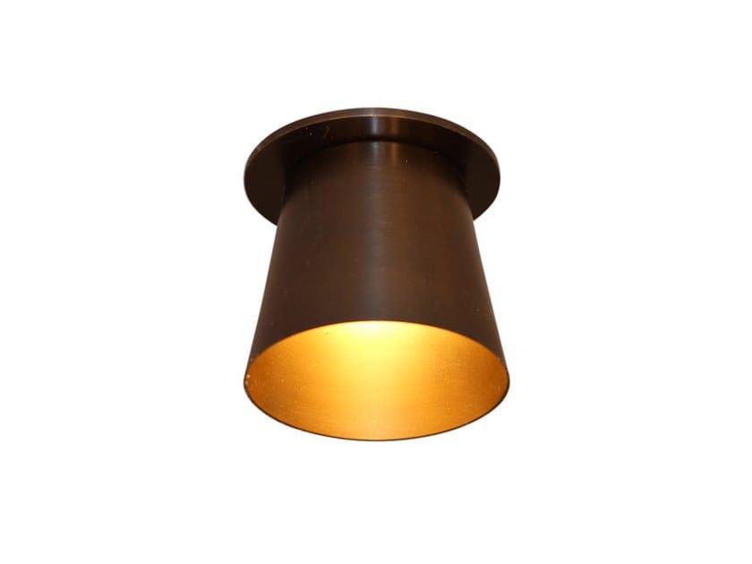 Semi-inset round metal spotlight BURNETT by GAU Lighting