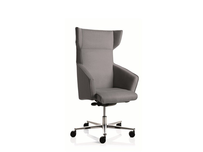 Medium back executive chair with 5-spoke base with armrests BUSINESS CLASS | Medium back executive chair by Emmegi
