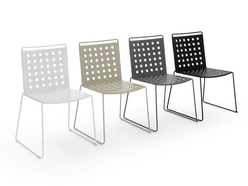 Sedia a slitta in alluminio BUSY | Sedia by Urbantime