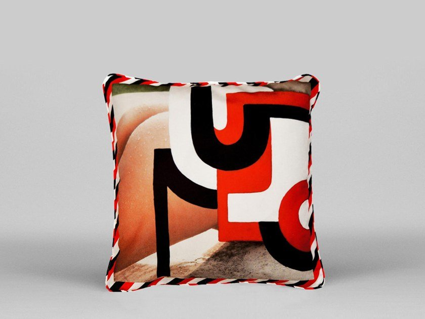 Square cushion with removable cover BUTT PILLOW - ART05 by HENZEL STUDIO