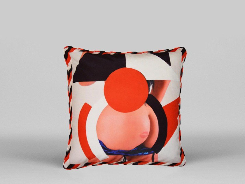 Square cushion with removable cover BUTT PILLOW - ART06 by HENZEL STUDIO