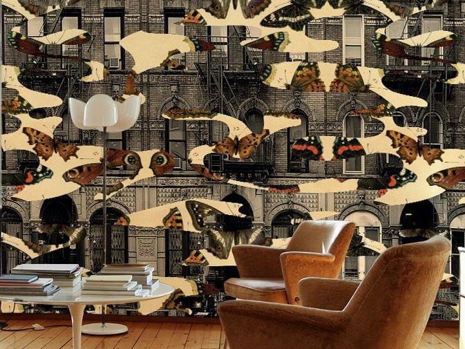 Motif washable vinyl wallpaper BUTTERFLIES by GLAMORA