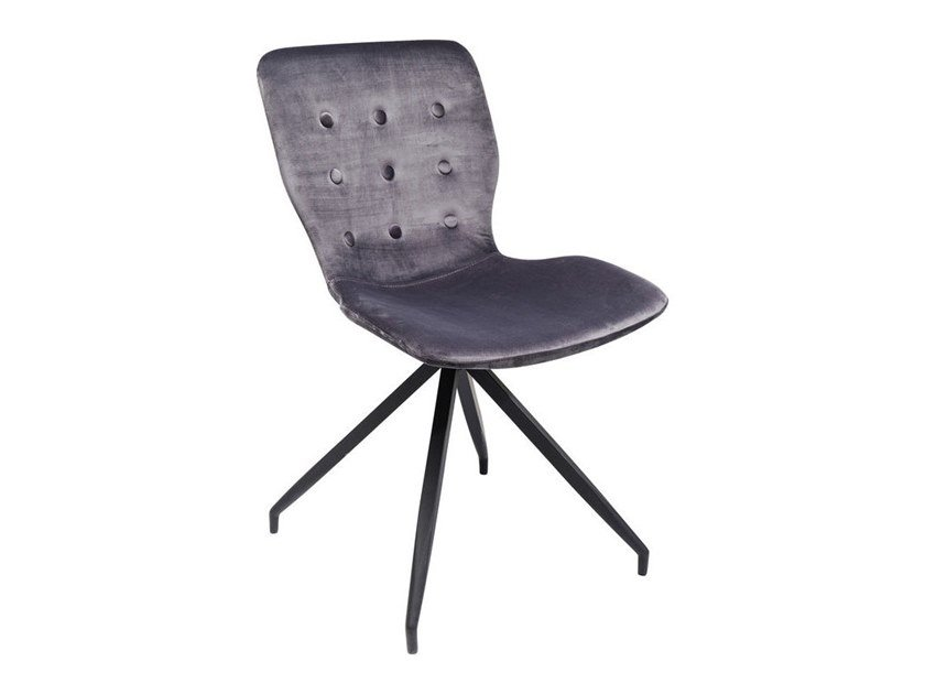Trestle-based fabric chair BUTTERFLY | Trestle-based chair by KARE-DESIGN