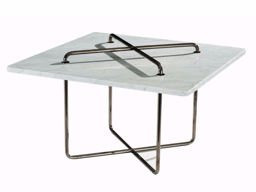 Square marble coffee table BUTTON | Square coffee table by ROCHE BOBOIS