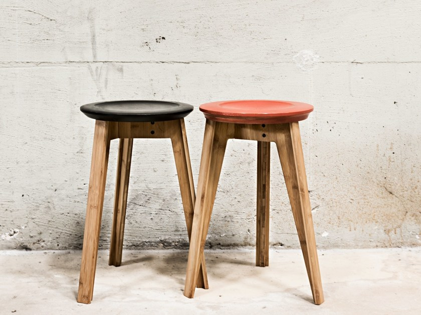 Bamboo stool BUTTON STOOL by We Do Wood