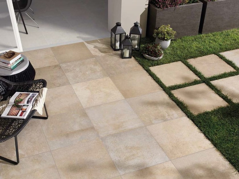 Porcelain stoneware outdoor floor tiles with stone effect BUXSTONE 20 MM | Outdoor floor tiles by Panaria Ceramica