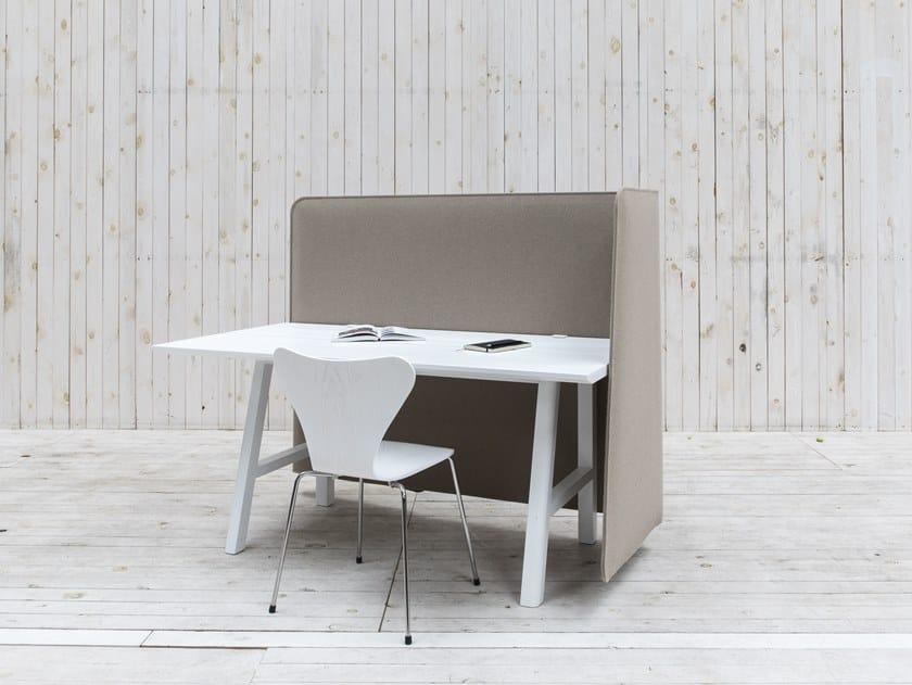 Acoustical desk panel BuzziWrap FrontDesk by BuzziSpace