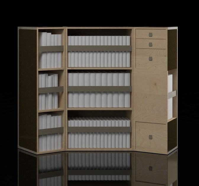 Bookcase BYRON BOOKCASE by Paolo Castelli