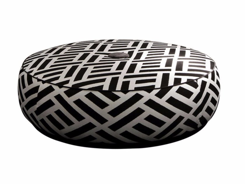 Upholstered fabric pouf BYRON by SOFTHOUSE