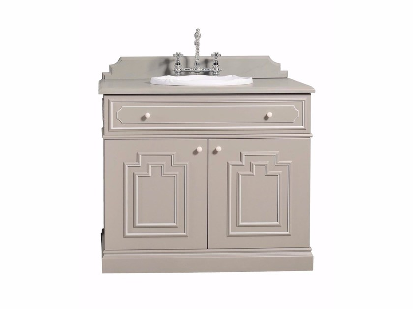 Lacquered single wooden vanity unit BYRON | Vanity unit by GENTRY HOME