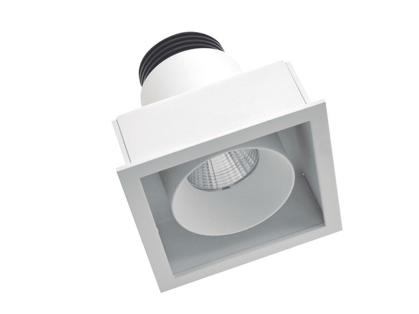 LED square recessed aluminium spotlight BYTE 1 by LED BCN