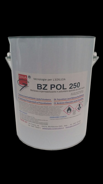 Additive and resin for waterproofing BZ POL 250 by GAIA