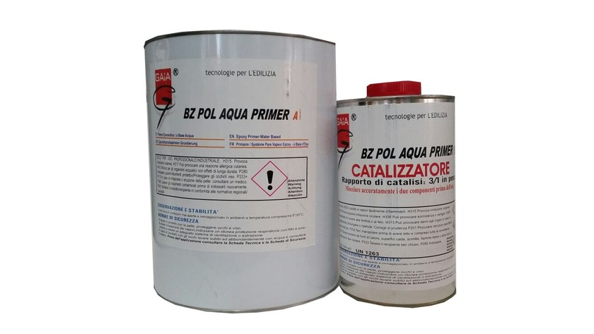 Additive and resin for waterproofing BZ POL ACQUA Primer by GAIA