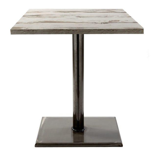 Arredamenti Bapia Contract In Metallo Vela Per weld Quadrato Tavolo ZuXiPk