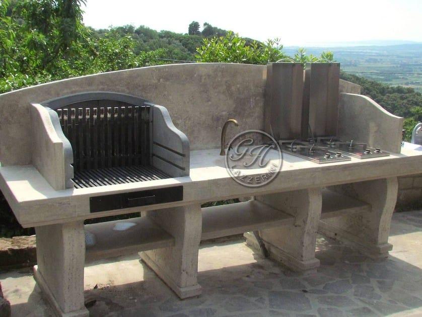 Travertine barbecue Barbecue 5 by GH LAZZERINI