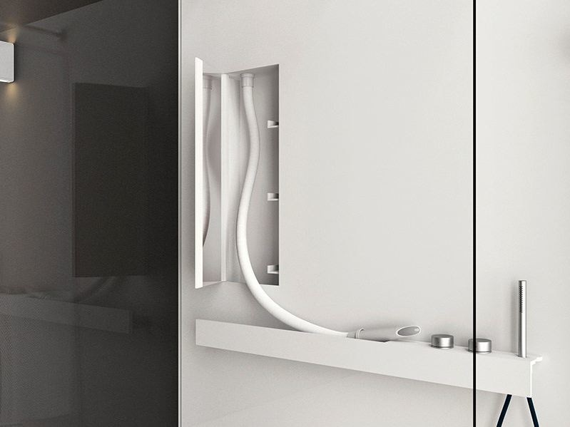 Vasca Da Bagno Con Rubinetteria Integrata : Mensola per doccia o vasca con rubinetteria integrata life shelf